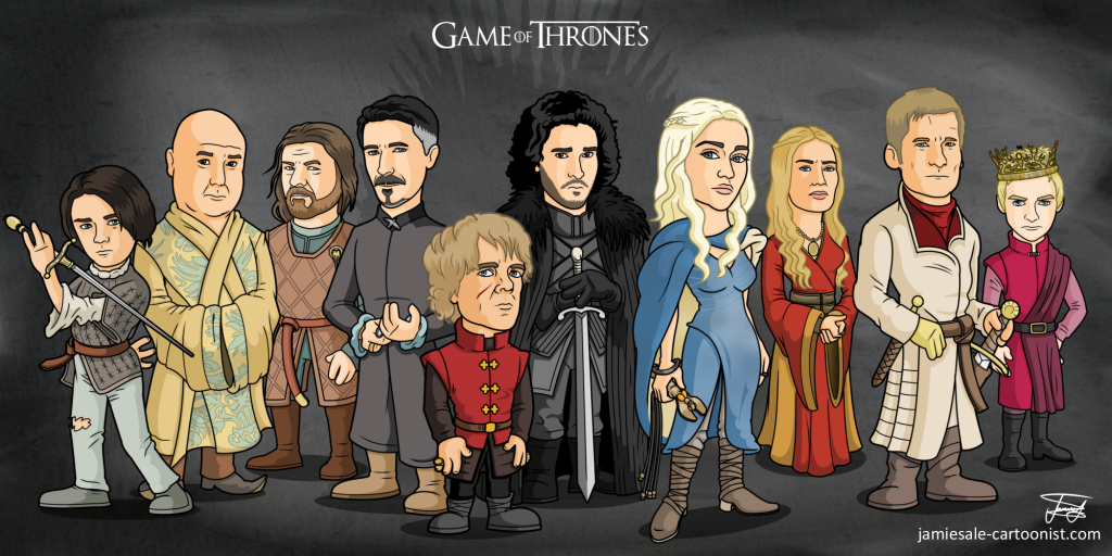 10 Game of Thrones Cartoon Characters