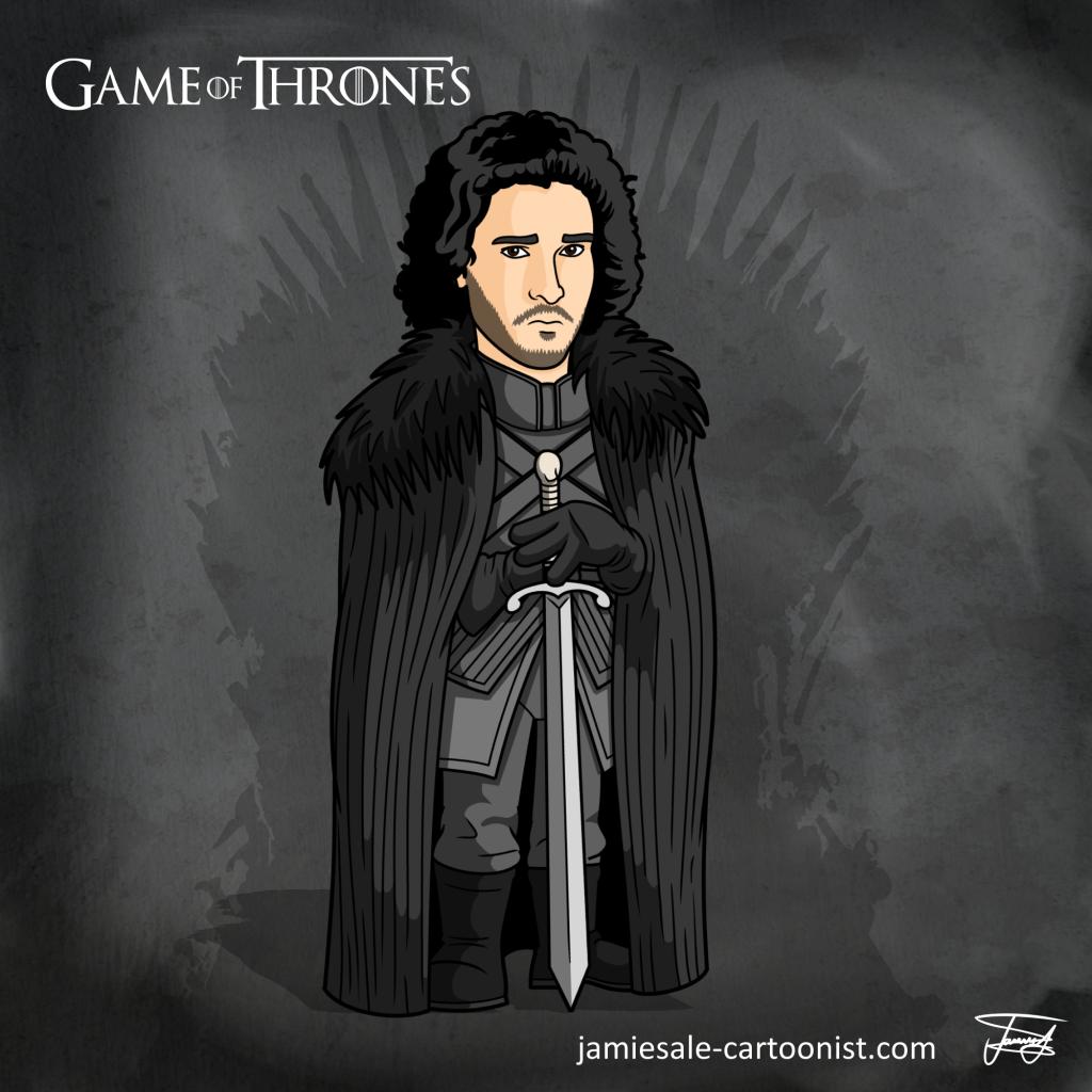Jon Snow Cartoon Game of Thrones