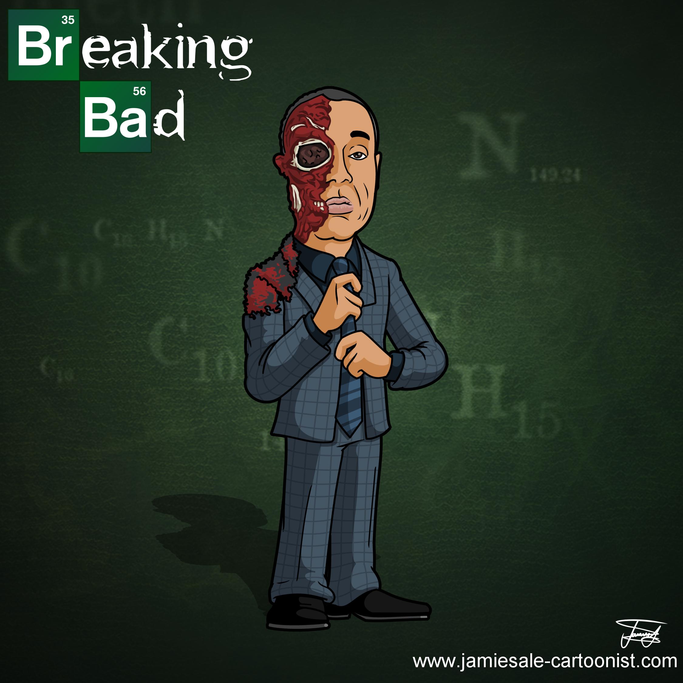 Breaking Bad Cartoons Breaking Bad Gus Face Blown