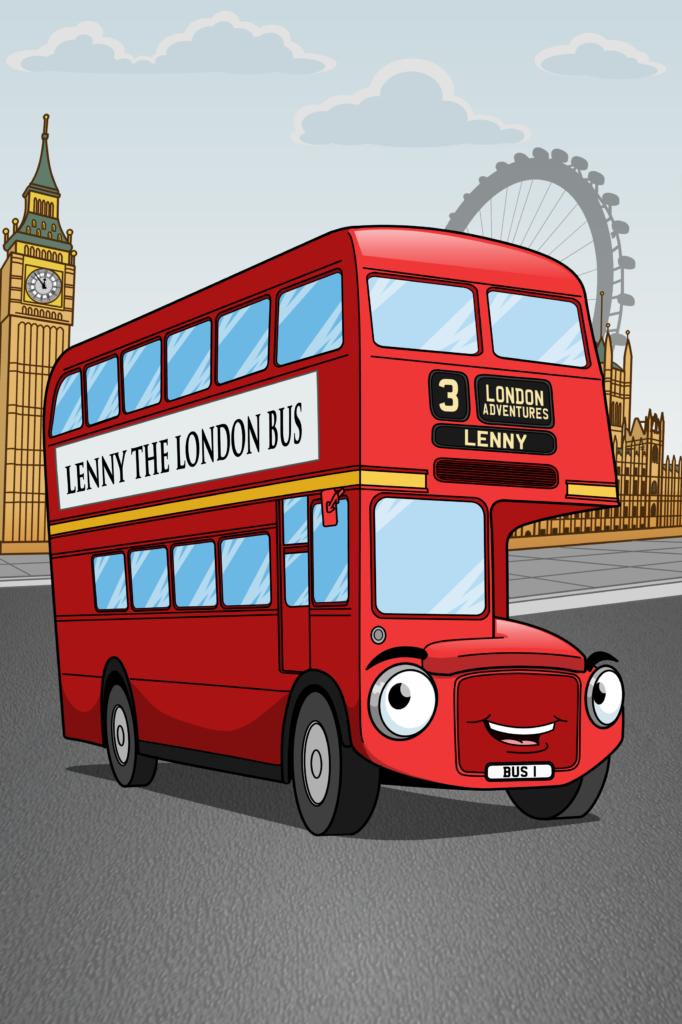 London Bus Cartoon Character