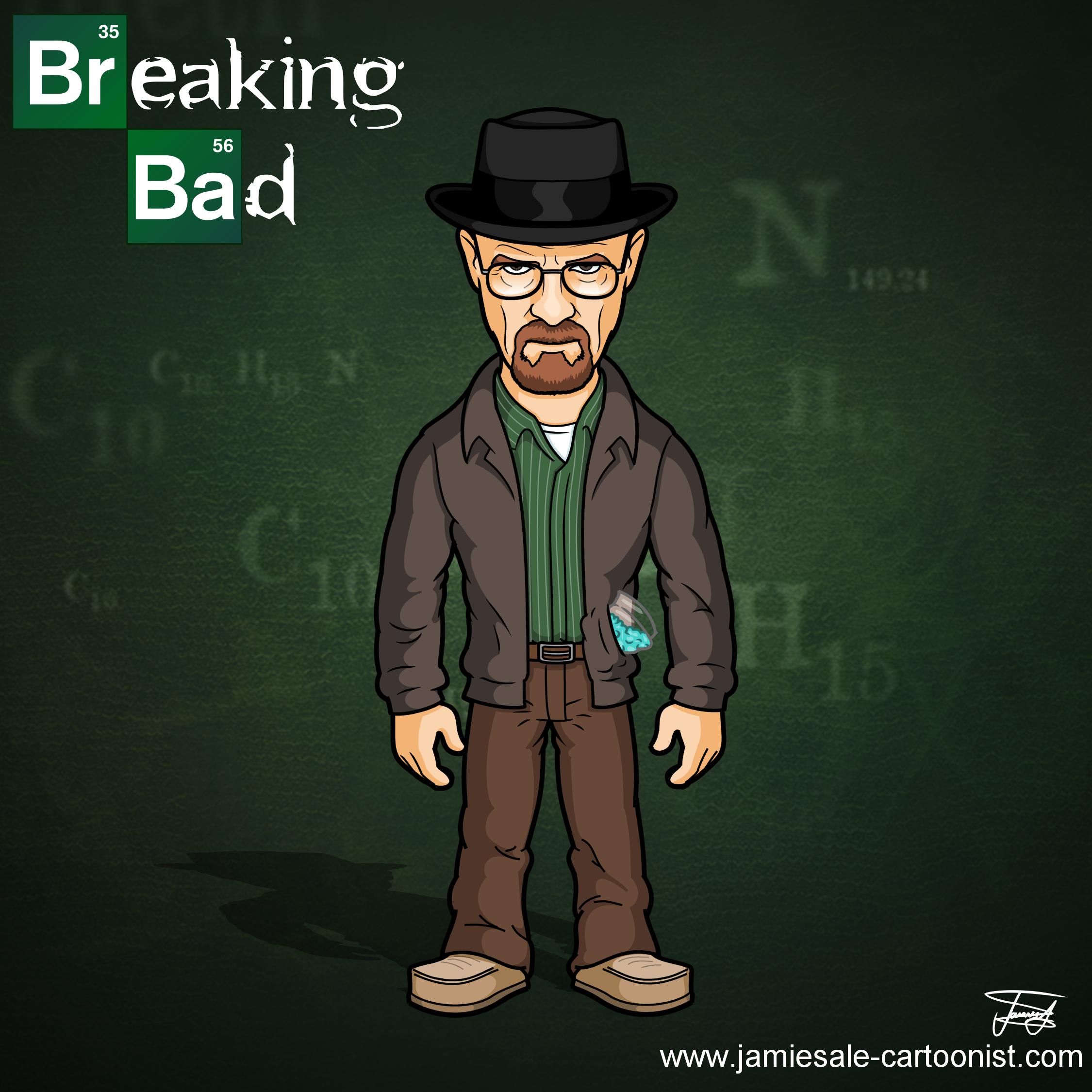 Breaking Bad Cartoon Characters Jamie Sale Cartoonist