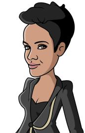 Rihanna as Cartoon Caricature