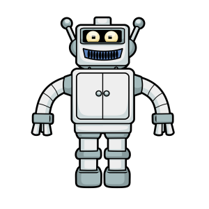 Cartoon Robot Free Vector