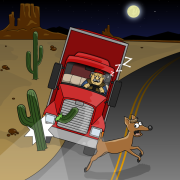 cartoon-trucker