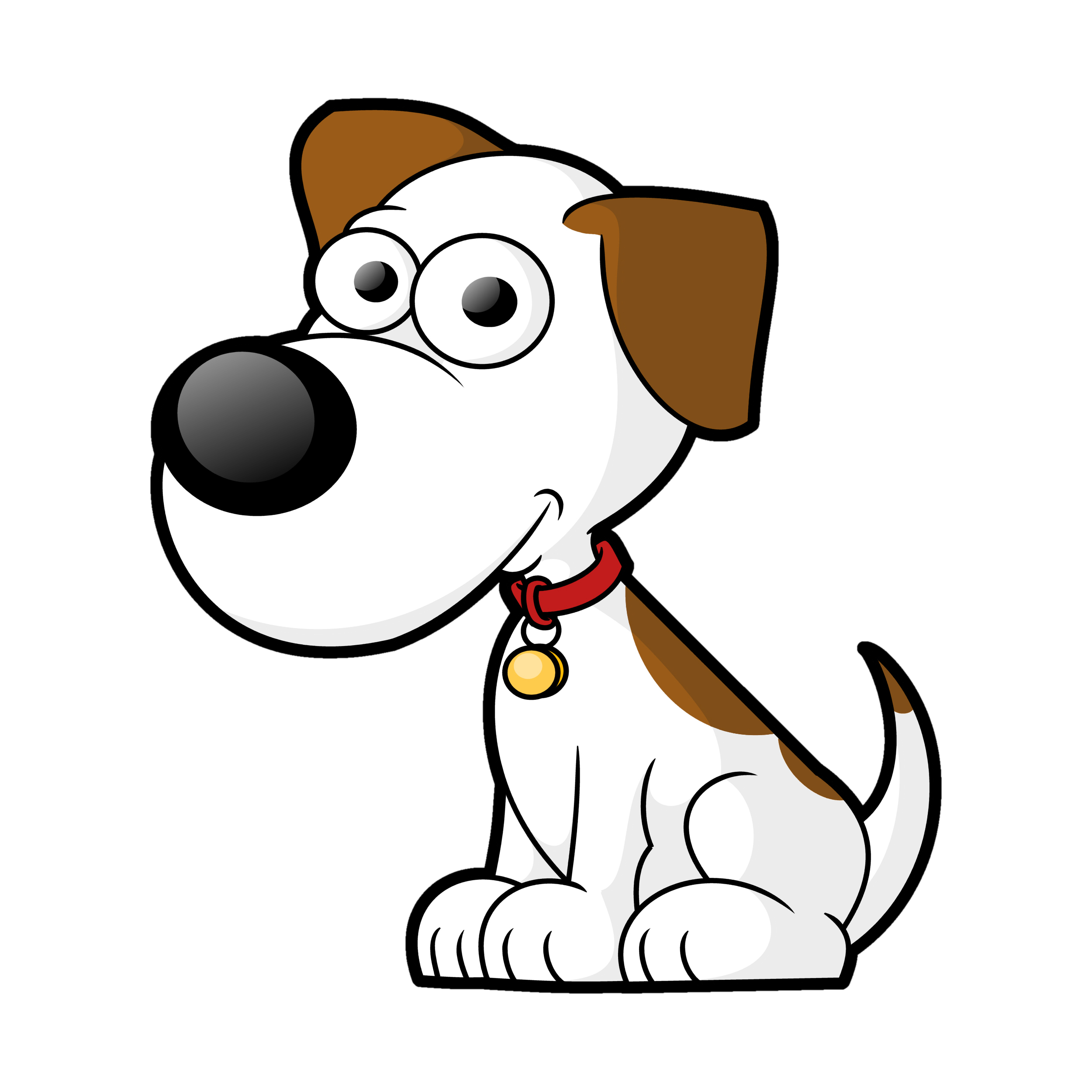 free dog clip art vector