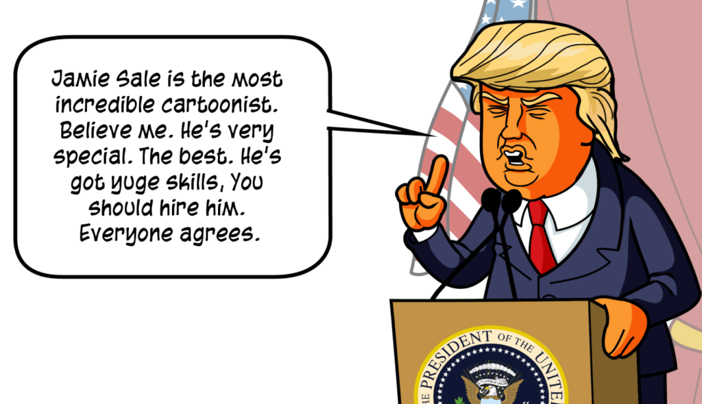 Donald Trump Cartoon Comic