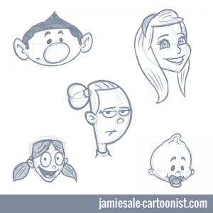 cartoon-face-sketches