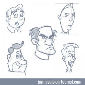 cartoon-faces-sketch
