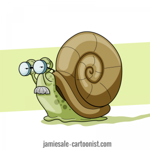 Cartoon Snail Character