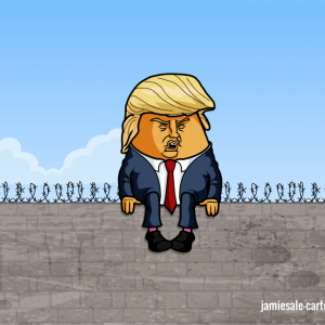 Donald Trump Wall Cartoon