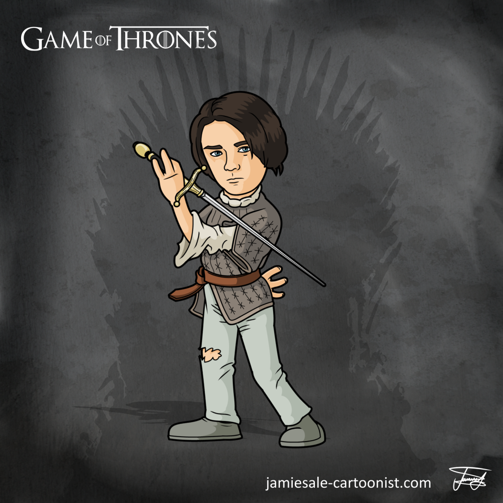 Arya Stark Cartoon
