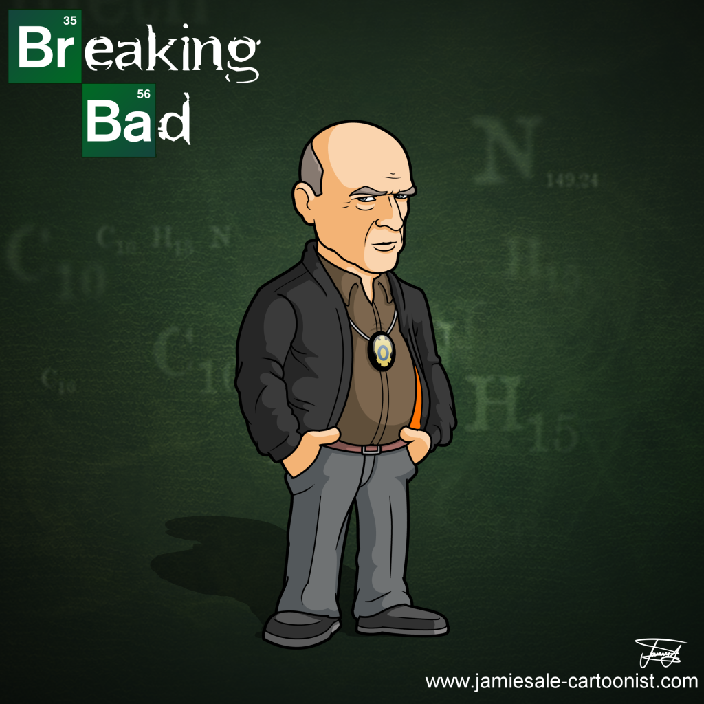 breaking bad hank minerals cartoon character