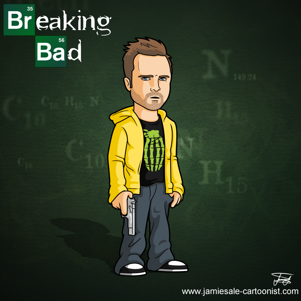 breaking bad jesse pinkman bitch cartoon character
