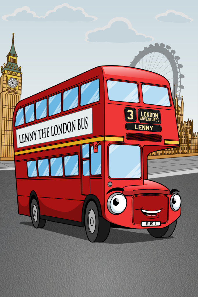 London Bus Cartoon Character