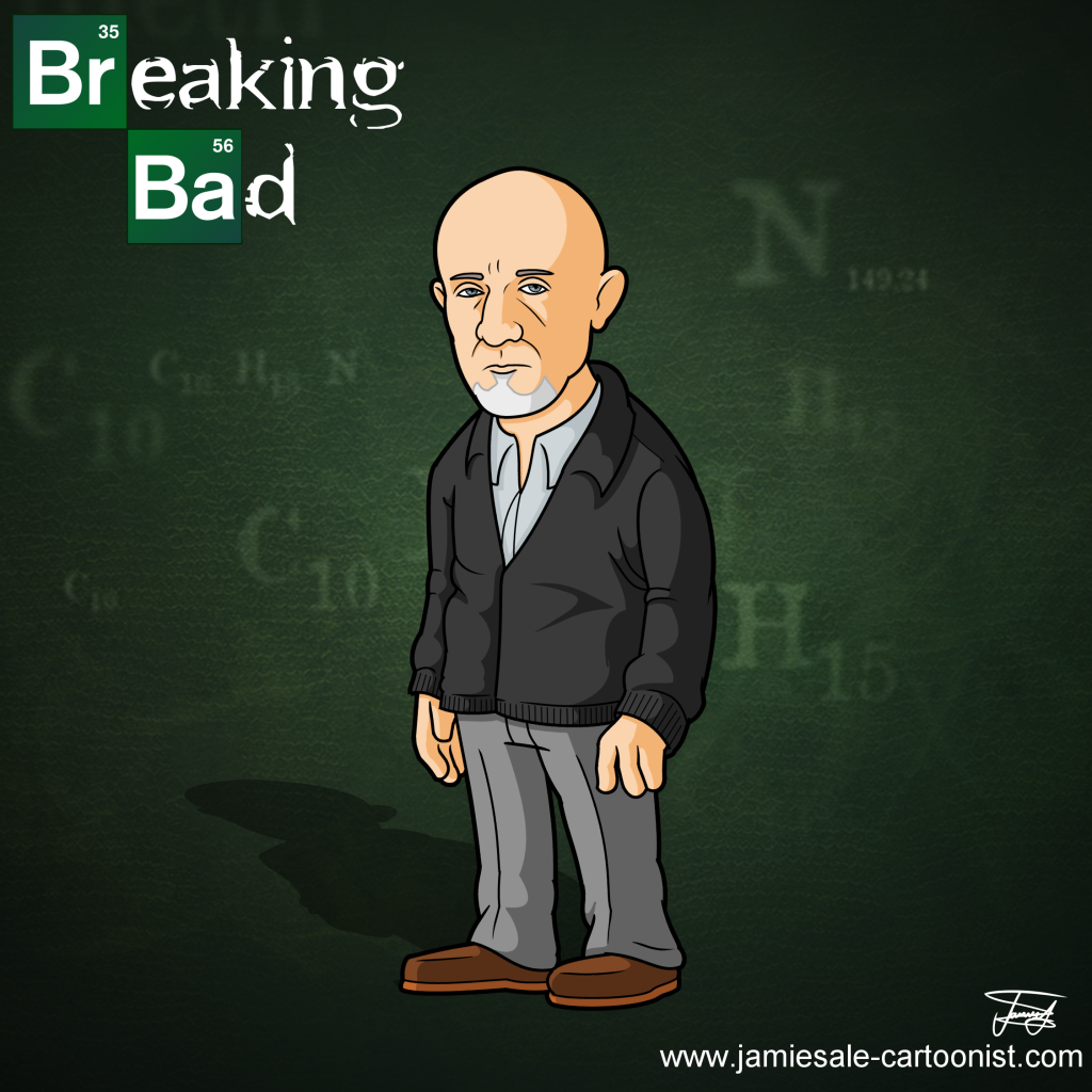 breaking bad mike cartoon character