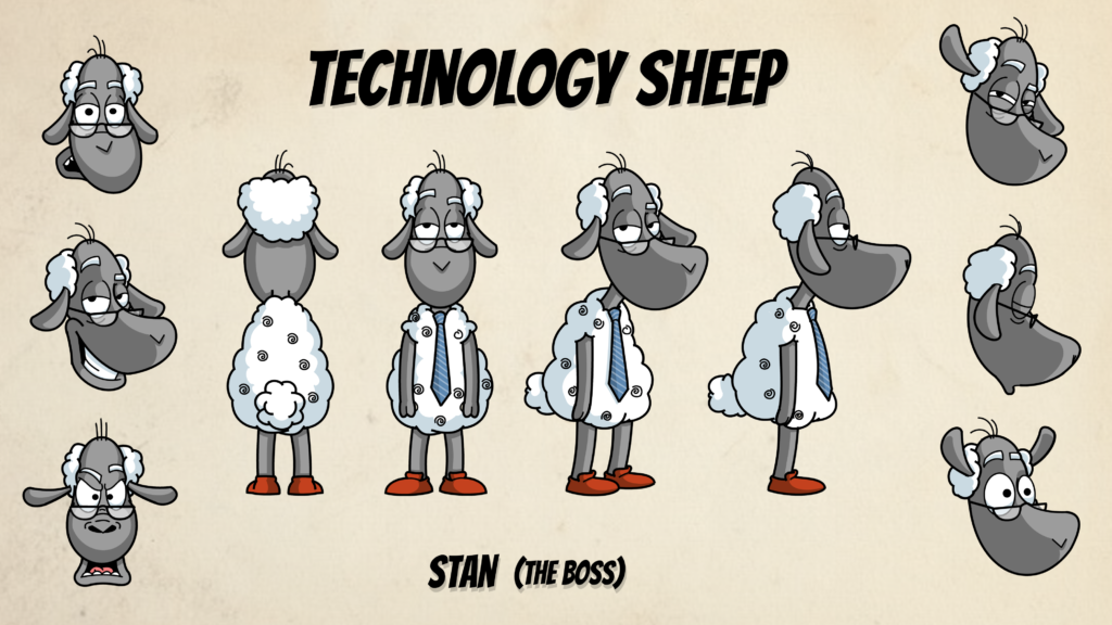 Sheep Character Model Sheet