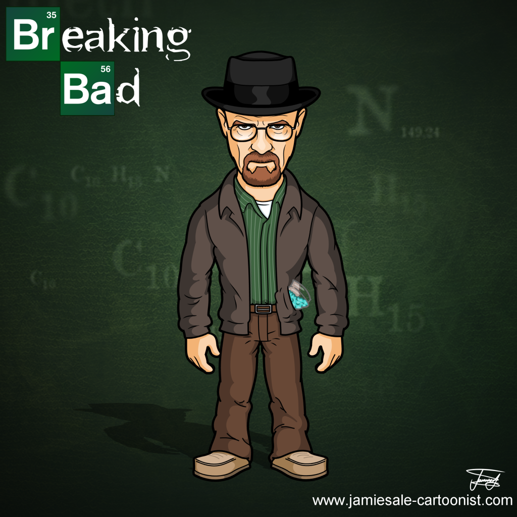 breaking bad walt heisenberg cartoon character